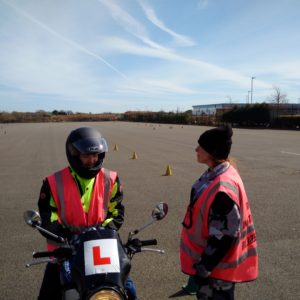 Photograph of student and instructor on MOD 1 training.