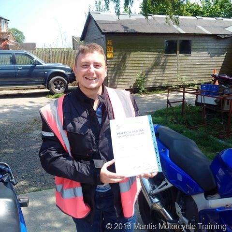 Tom King passing his test